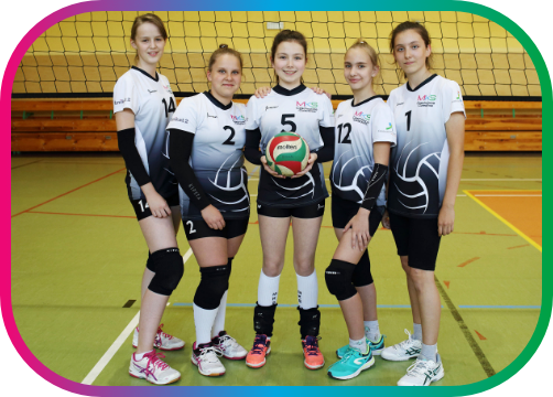 Zespół czwórek od lewej: Emilia Furczyk, Marta Błaszcz, Agata Kóska, Zofia Wobik, Partycja Majdak